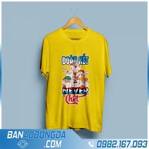 Áo đồng phục nhóm 3D màu vàng đẹp HZ 94