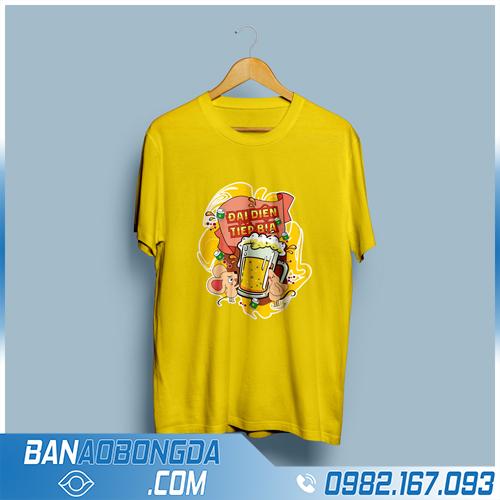 đồng phục áo phông cổ tròn màu vàng HZ 98