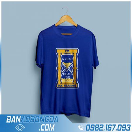 áo thun đồng phục rẻ đẹp HZ 104 màu xanh dương