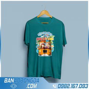 áo phông đồng phục đẹp HZ 131 màu xanh lý
