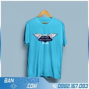 áo phông đồng phục màu xanh Ya đẹp HZ 141