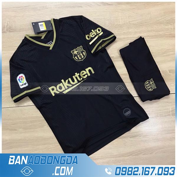 áo Barca 2021 sân khách màu đen chính thức