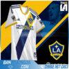 áo LA Galaxy tự chế màu trắng HZ 459