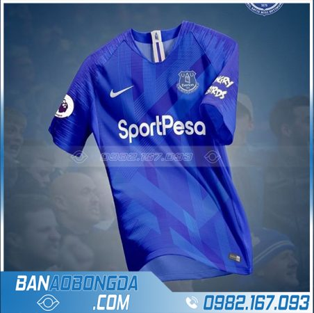 áo bóng đá tự thiết kế màu xanh dương HZ 549