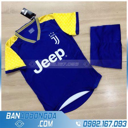 áo đá banh Juventus chế màu xanh dương