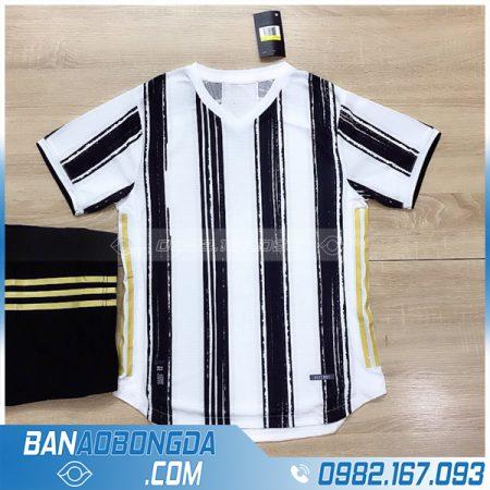 áo đá bóng juventus không logo màu đen trắng
