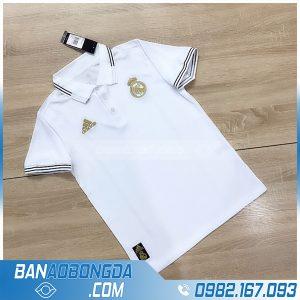 áo polo Real Madrid 2021 màu trắng