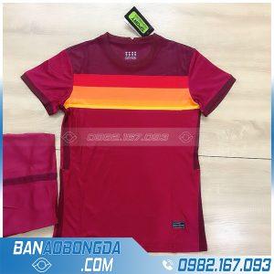 áo bóng đá As roma không logo màu bã trầu