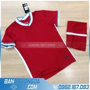 áo bóng đá Liverpool 2021 màu đỏ không logo