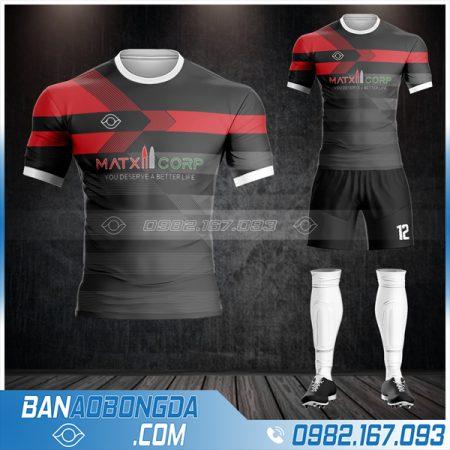 áo bóng đá công ty màu đen HZ 557