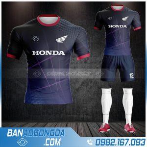 Áo bóng đá công ty Honda HZ 579 màu tím than