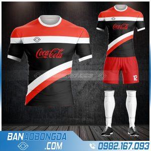 áo đá bóng công ty Coca Cola thiết kế HZ 593 đẹp