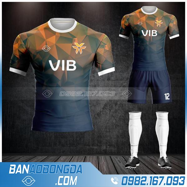 áo đá banh ngân hàng VIB thiết kế HZ 608