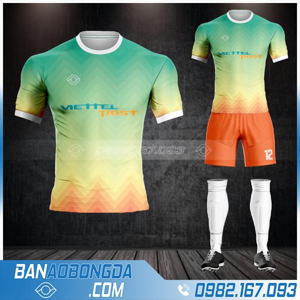 may áo bóng đá công ty Viettel Post HZ 614 giá rẻ