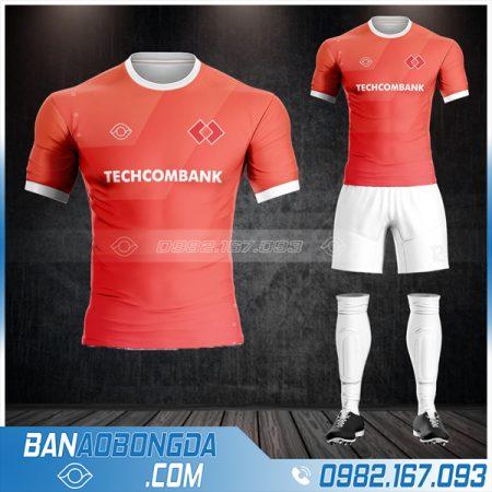 áo đá bóng ngân hàng Techcombank màu đỏ