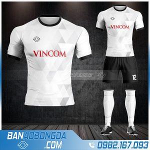 quần áo bóng đá công ty đẹp HZ 635 màu trắng