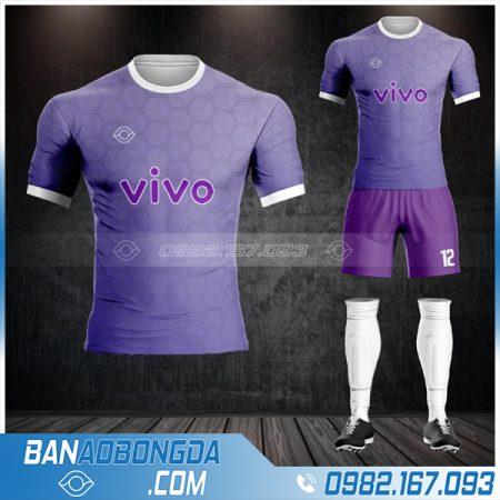 Áo bóng đá công ty Vivo màu tím HZ 644