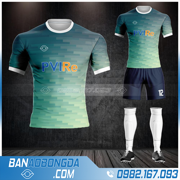 áo đá bóng công ty bảo hiểm PVI đẹp HZ 652