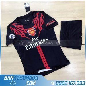 áo đá banh Arsenal 2021 màu đen siêu chất