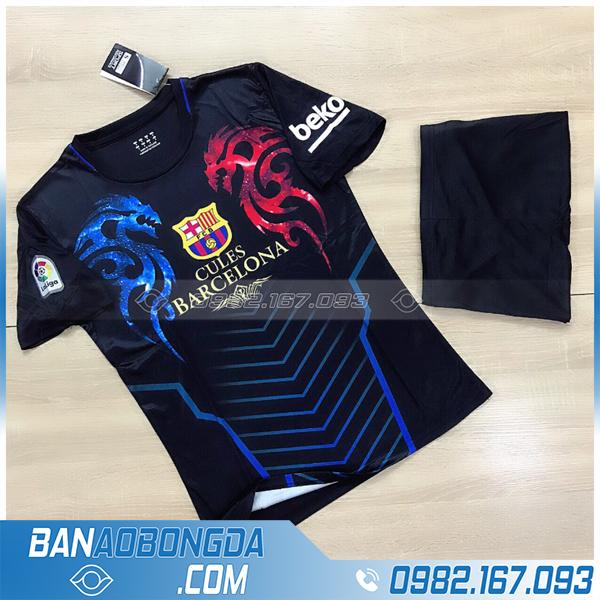 quần áo bóng đá Barcelona chế màu đen giá rẻ