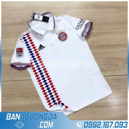 Mẫu áo bóng đá Bayern Munich có cổ cao cấp