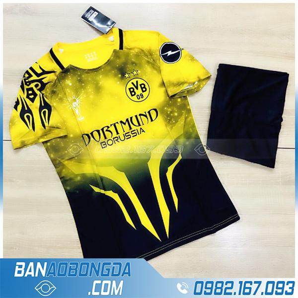 Áo Dortmund chế màu vàng đẹp giá rẻ