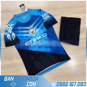 Áo Manchester CIty 2021 màu xanh da trời tự chế