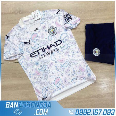áo Manchester City 2021 sân khách chính thức