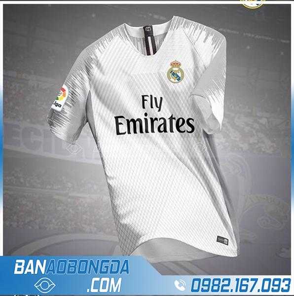 Áo Real Madrid tự chế màu trắng HZ 676