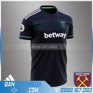 đồng phục bóng đá thiết kế HZ 682 màu đen