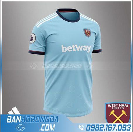 Áo West Ham tự chế đẹp HZ 684 màu xanh nhạt