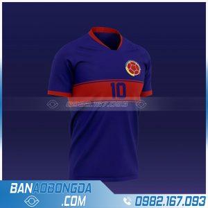 áo đội tuyển Colombia chế màu tím