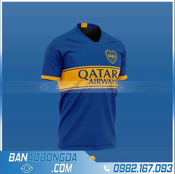 Áo bóng đá clb tự thiết kế màu xanh dương HZ 698