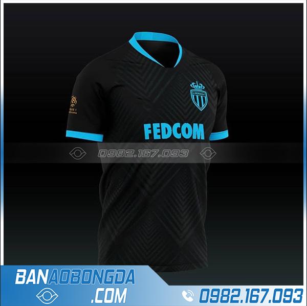 Áo bóng đá As Monaco màu đen mới nhất