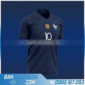 Áo bóng đá đội tuyển Pháp chế màu tím than