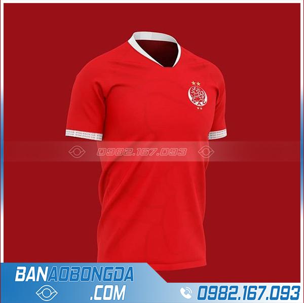 Áo bóng đá clb tự thiết kế HZ 713 màu đỏ