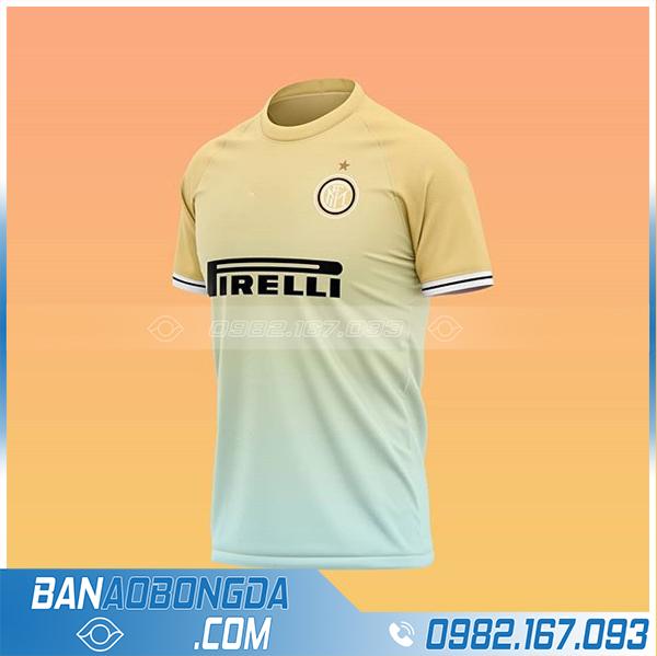 áo bóng đá Inter Milan 2021 chế màu vàng