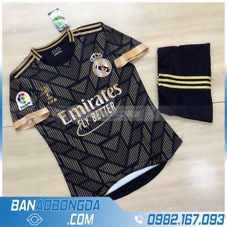 Áo Real Madrid chế màu đen đẹp