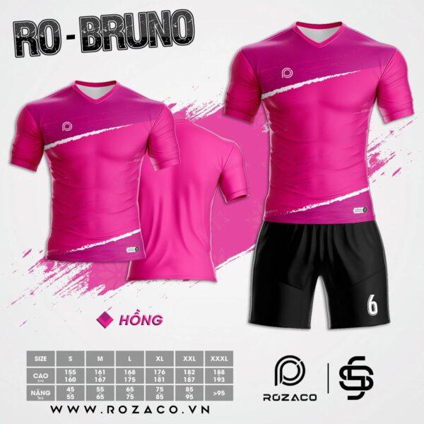 áo bóng đá không logo cao cấp Bruno màu hồng