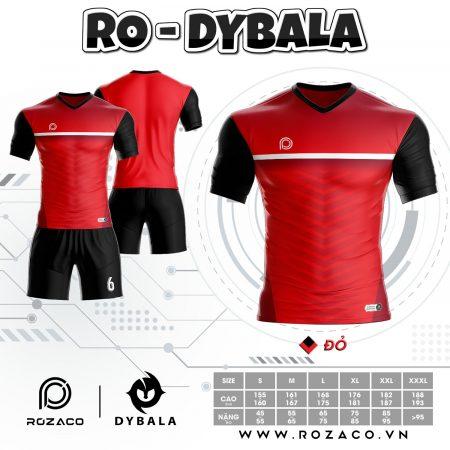 Áo Đá Bóng Không Logo Rẻ Đẹp Dybala Màu Đỏ