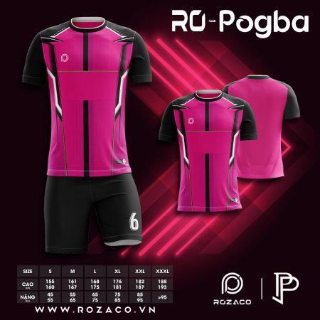 Áo bóng đá không logo màu hồng Pogba