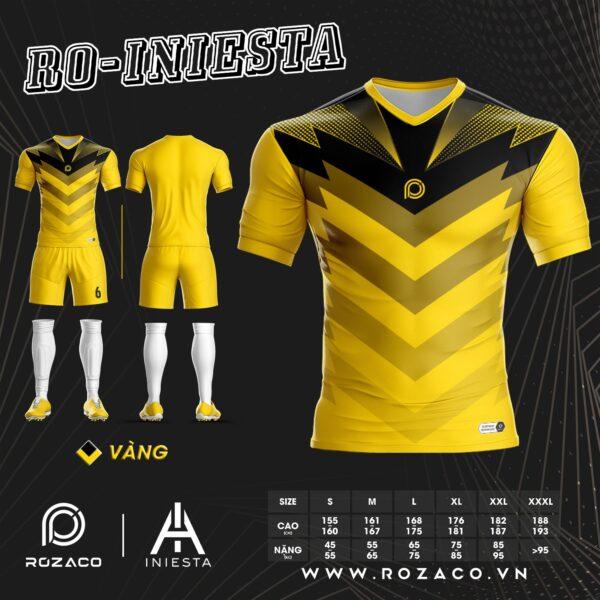 Áo Bóng Đá K Logo Iniesta Chế Màu Vàng Mới Nhất