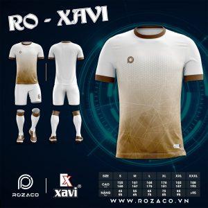 Áo Bóng Đá Không Logo Đơn Giản Ro - Xavi