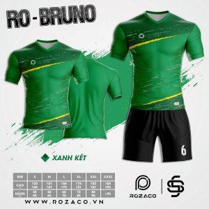 Áo bóng đá không logo cao cấp Bruno màu xanh lá HZ 732