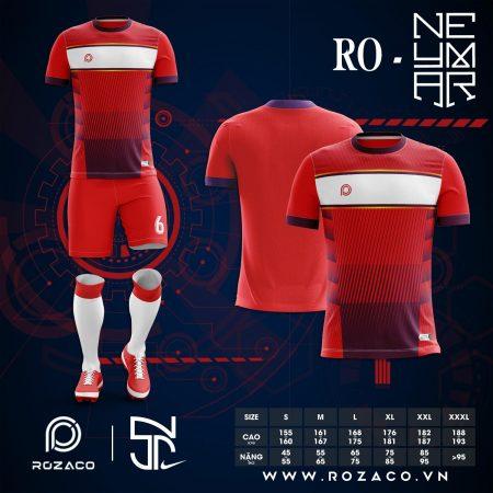 Áo đấu bóng đá không logo màu đỏ đẹp HZ 737