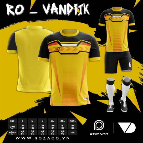 Áo bóng đá không logo 2021 màu vàng thiết kế HZ 736