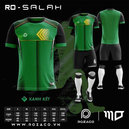 thiết kế áo bóng đá không logo màu xanh lá đẹp HZ 741