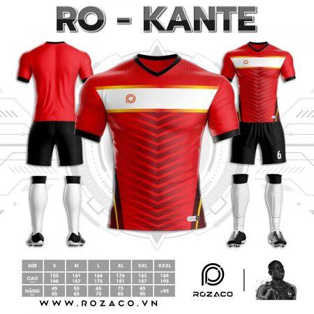 Áo bóng đá không logo tự thiết kế HZ 745 màu đỏ