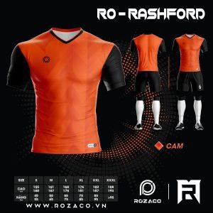 áo đá banh không logo cao cấp màu cam HZ 744
