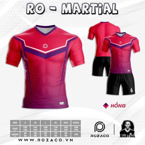 áo bóng đá không logo màu hồng đẹp HZ 746
